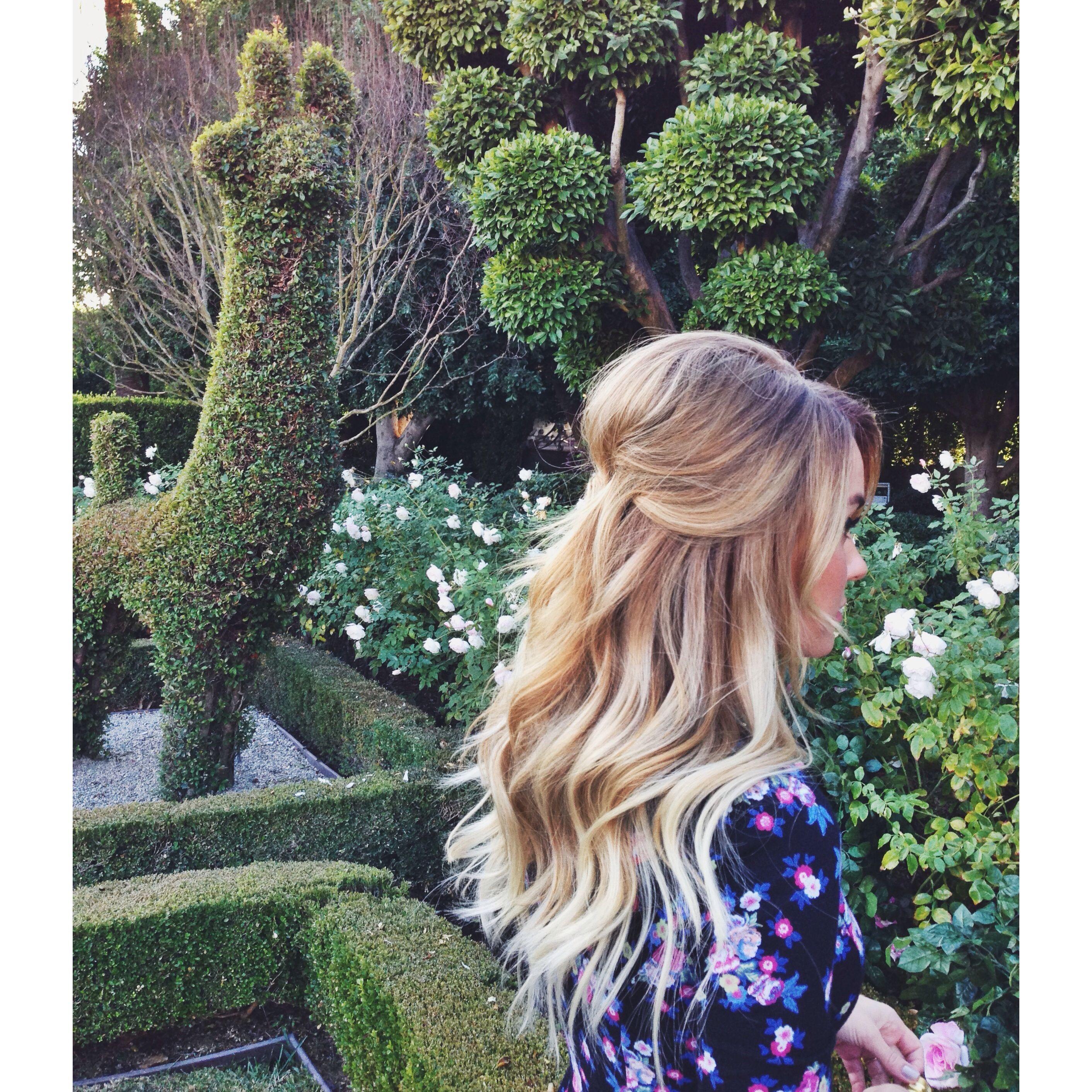 Halfup happiness via kristin ess instagram hair pinterest