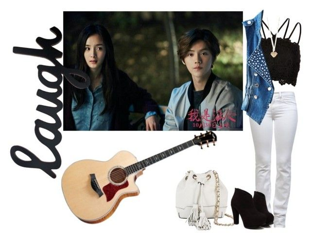 Being Serenaded To By Linchong With Xiaoxing!!!! by stevtasha-romanodgers on Polyvore featuring polyvore fashion style River Island J Brand Rebecca Minkoff Betsey Johnson clothing