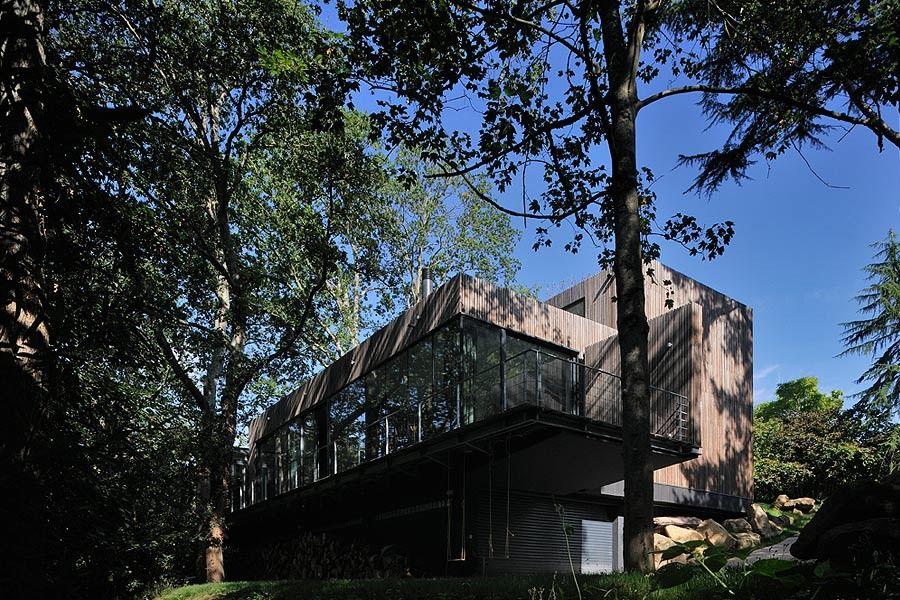 Maison contemporaine à Nantes par Yann Peron.