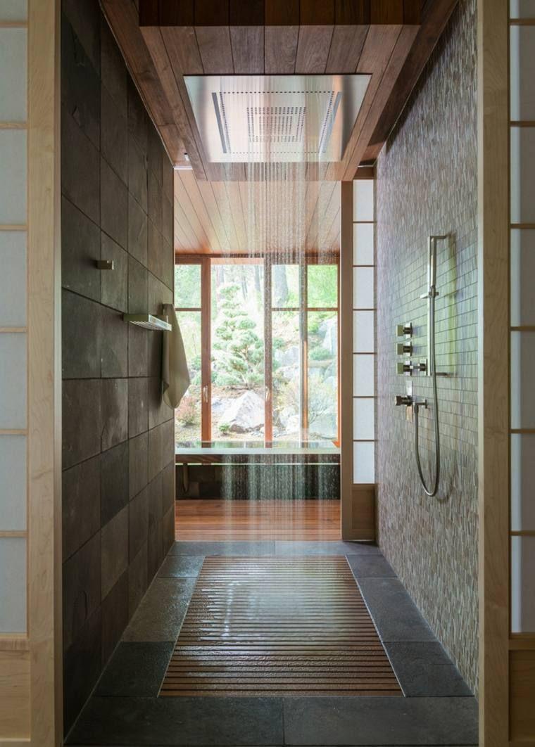 Une cabine avec douche italienne originale maison for Douche italienne originale