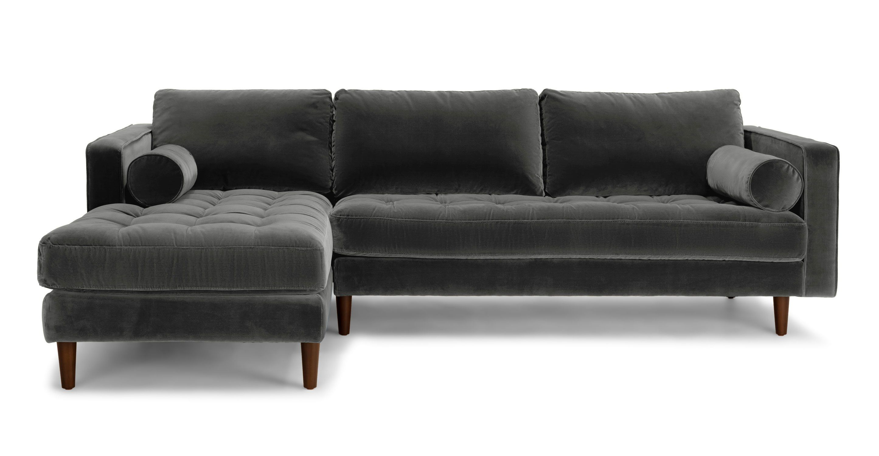 Sven shadow gray left sectional sofa sectionals article modern mid century and scandinavian furniture