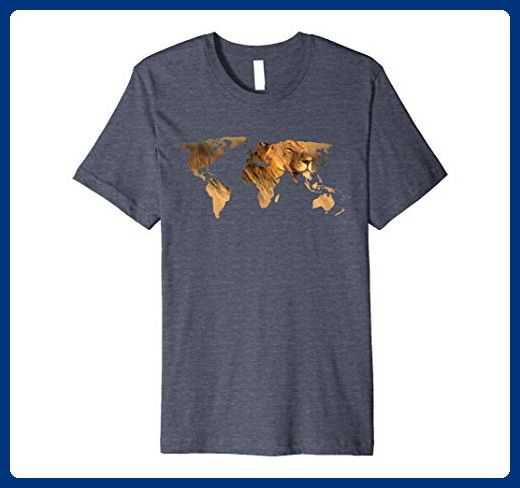 Mens premium dark color t shirt lion world map t shirt small mens premium dark color t shirt lion world map t shirt small heather gumiabroncs Gallery