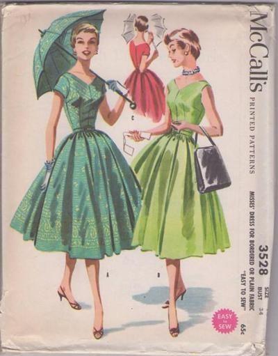 MOMSPatterns Vintage Sewing Patterns - McCall\'s 3528 Vintage 50\'s ...