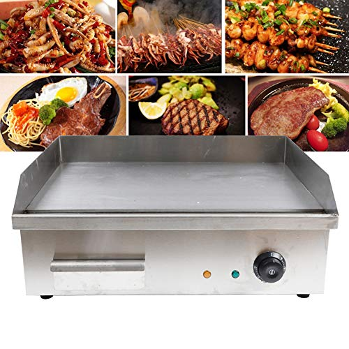 Tbvechi Teppanyaki Electric Griddle Cooktop Countertop Commercial