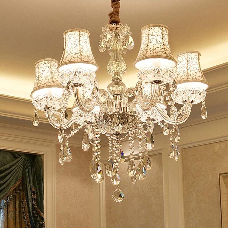 Elegant Modern Crystal Chandelier Transparent Pendant Light Dining Room Bedroom Living Room Modern Crystal Chandelier Pendant Lighting Dining Room Dining Room Lighting