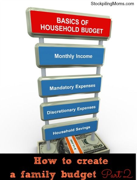 How to create a family budget Part 2 Home Organization Pinterest