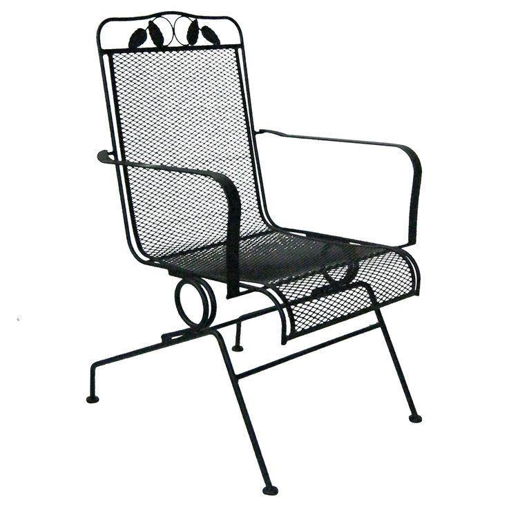 Black Wrought Iron Spring Base Sliding Chair Iron Springs