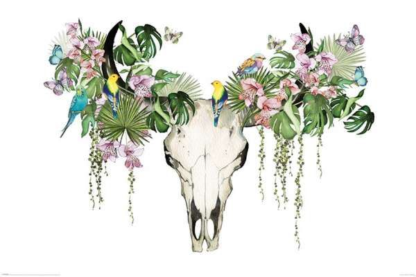 Deco Panel Tropic Skull 90 60 Fantasy Art Pinterest Fantasy