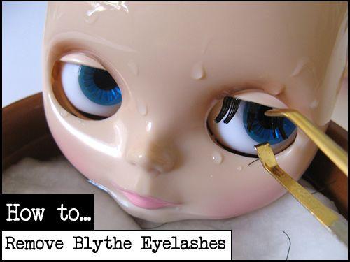 Flickr: Blythe Tutorials' removing eye lashes