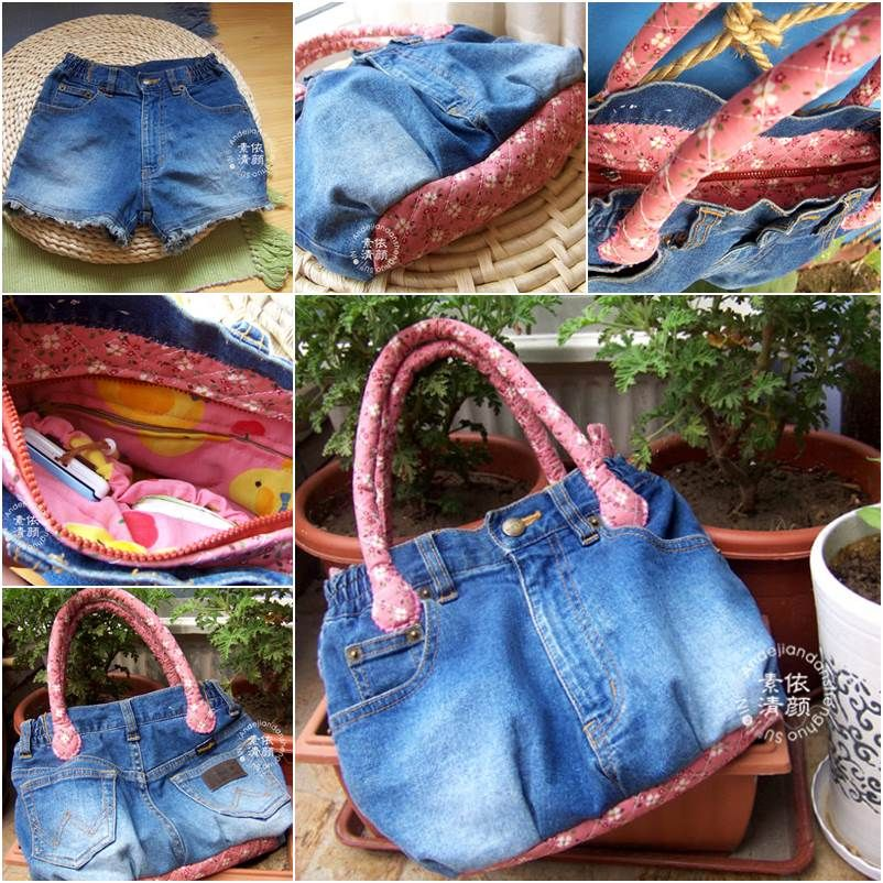Diy Ideas Bag: How To DIY Easy Handbag From Old Jeans