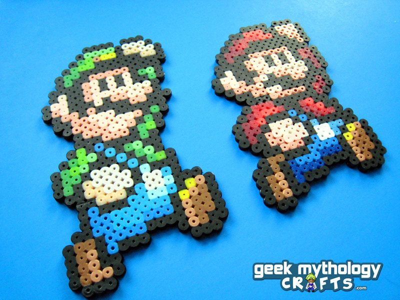 Super Mario Bros 3 Mario And Luigi Perler Bead Sprite Set 10 00