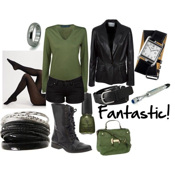 """""""Ninth Doctor"""" by favourite-fictional-fashions on Polyvore w/longer pants would be perfect"""