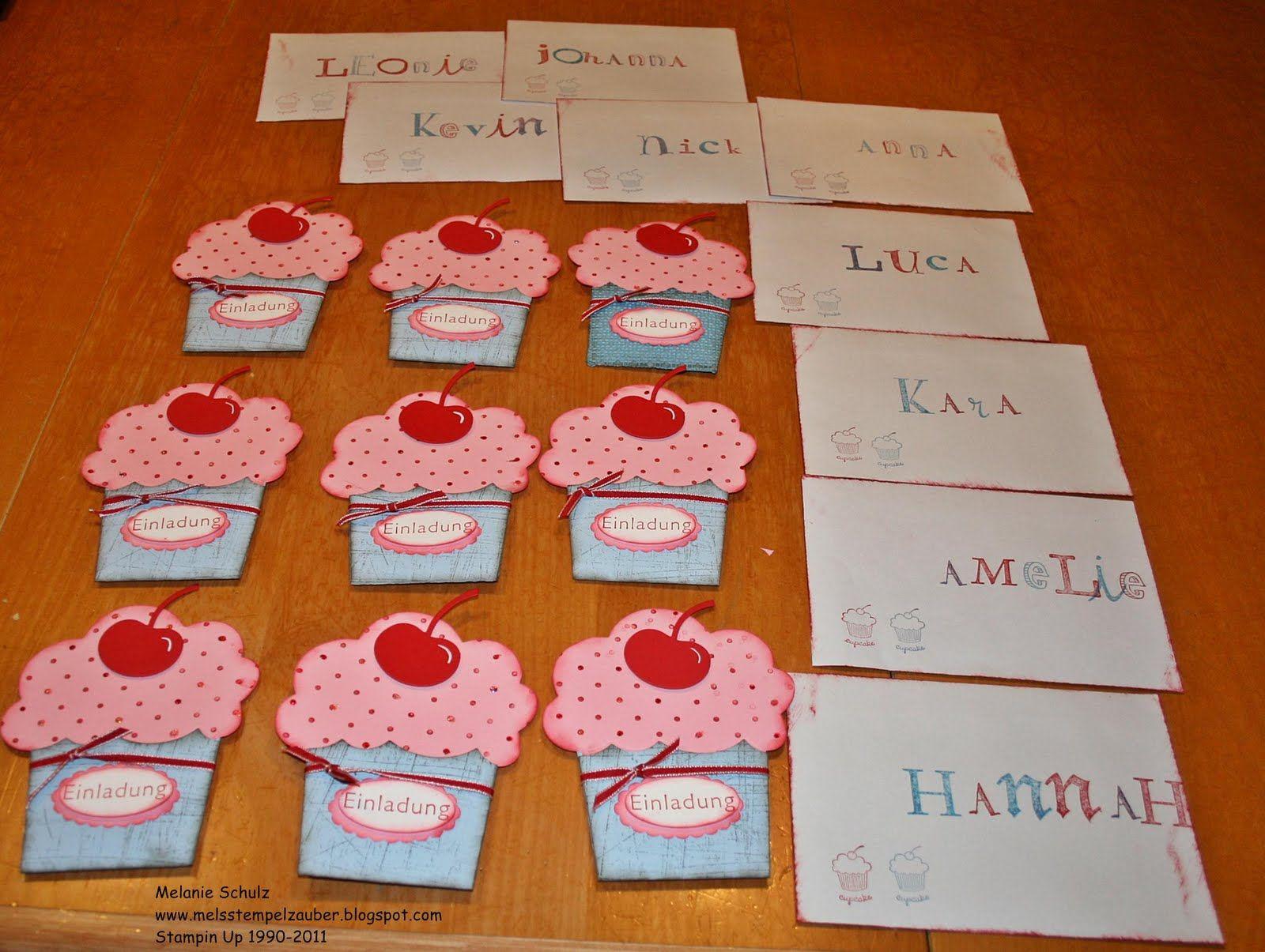 Einladung Zum 9.Geburtstag Unserer Tochter Davina Hier Sind Alle 9  Einladungen Die Muffins Ist Eine Stanzform Für Die Big Shot ... | Pinterest