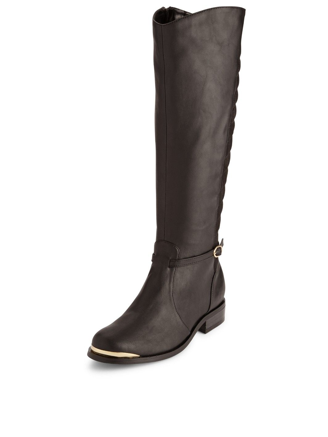 So Fabulous Nixon Extra Wide Fit Quilted Back Riding Boots | very ... : quilted back boots - Adamdwight.com