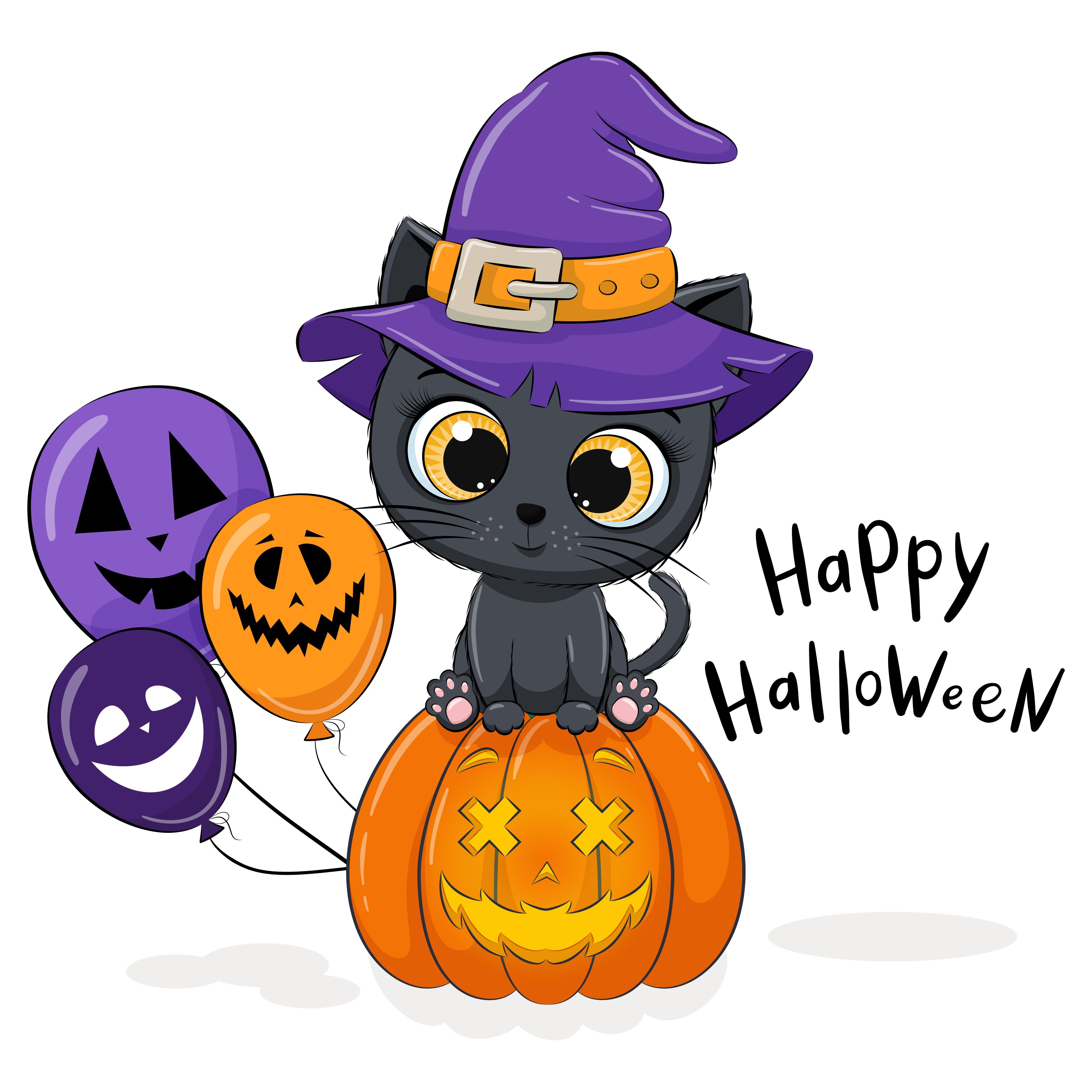 Cute Halloween Clipart Png Eps Jpeg Kitten Clipart Pumpkin Clipart Halloween Clipart Halloween Cartoons Halloween Kids