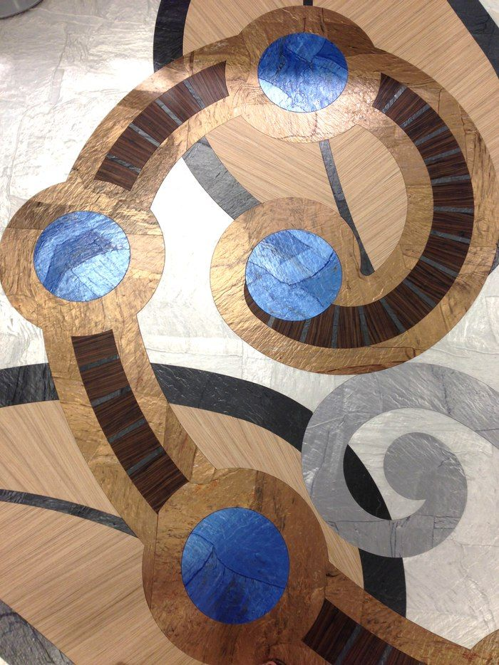 Centiva Neocon 2013 Resilient flooring, Tile layout