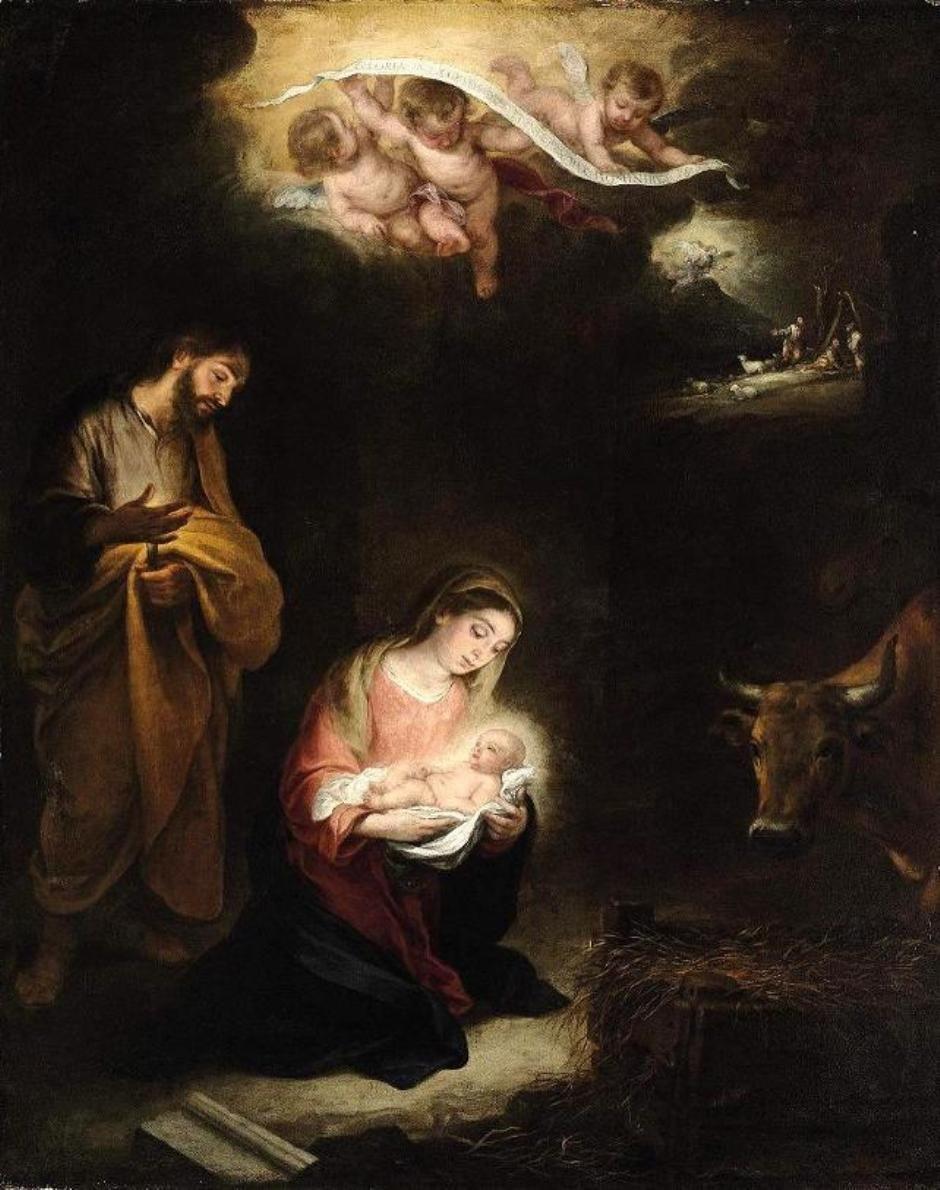 Pinturas de nacimientos de navidad