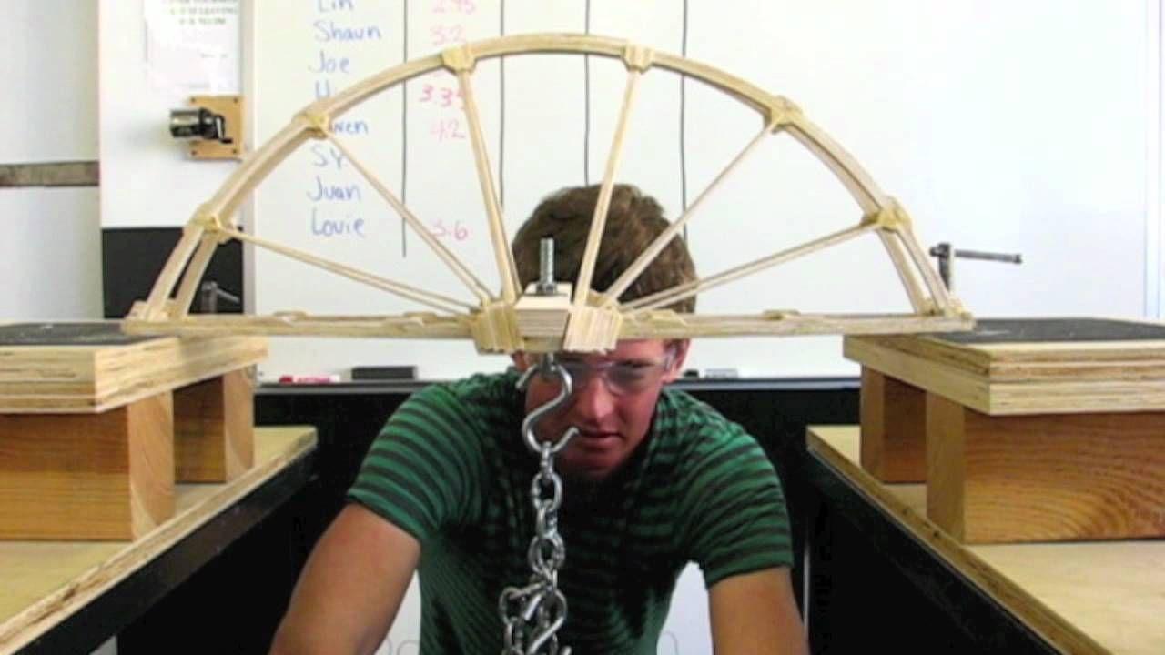 Balsa Wood Bridge Julian Dinsing 419 Pounds Science
