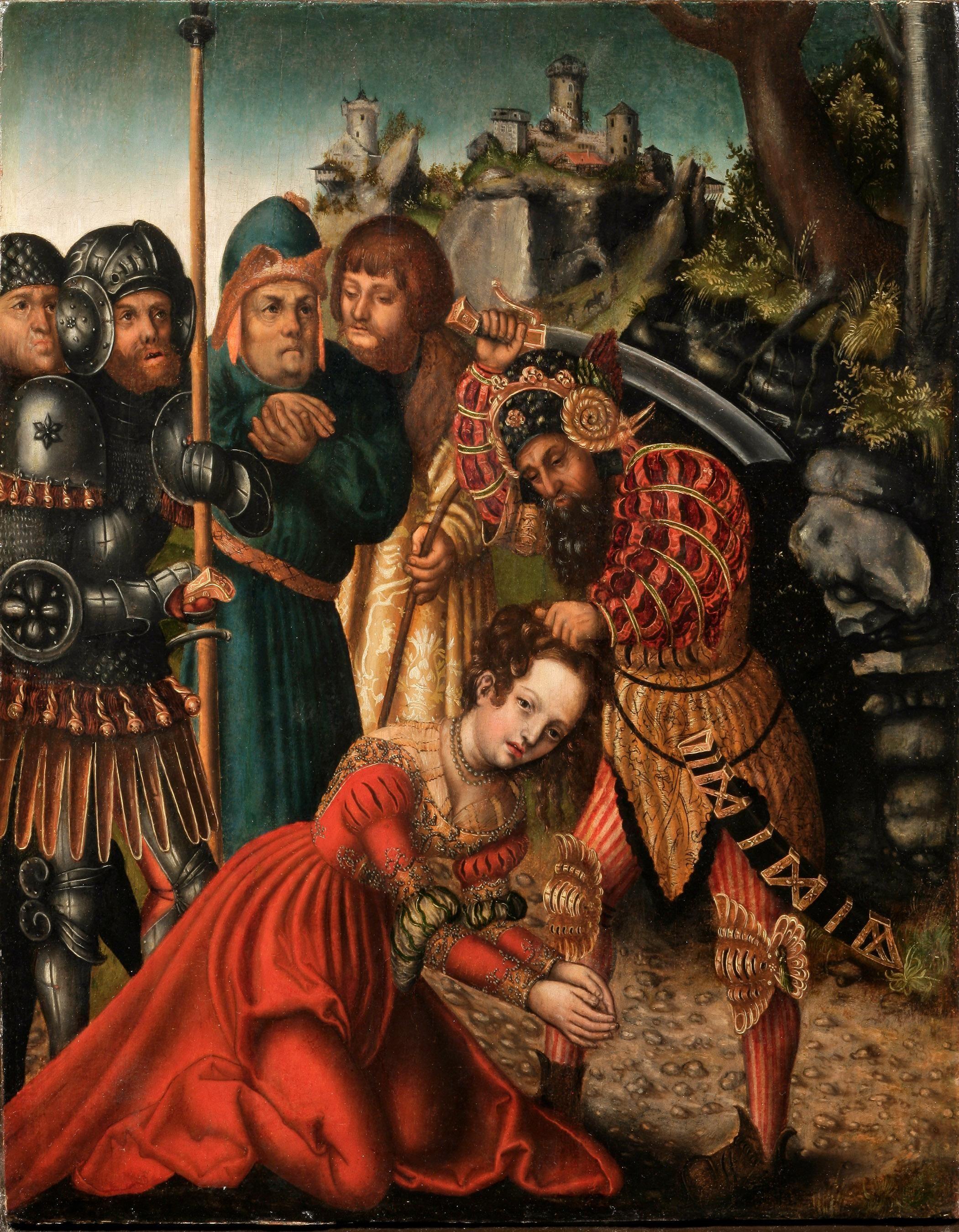 лукас кранах династия художников раннего возрождения Lucas Cranach The Elder Germany 1472 1553 Luc Saint Barbara Lucas Cranach Metropolitan Museum Of Art