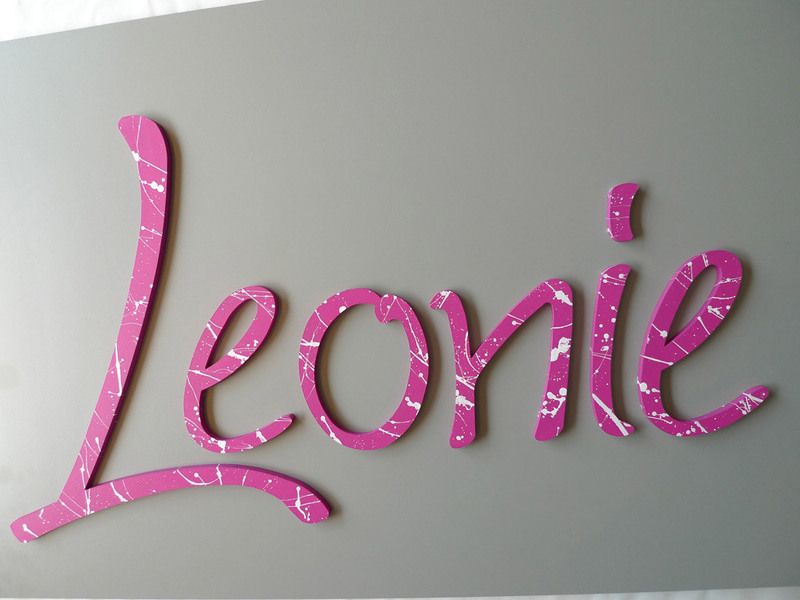 Buchstaben ☆ Kinderzimmer von PAULSBECK Buchstaben, Dekoration ...