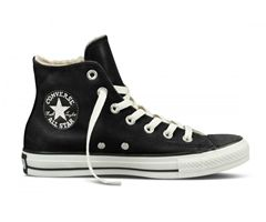 Winter shoes converse in black.