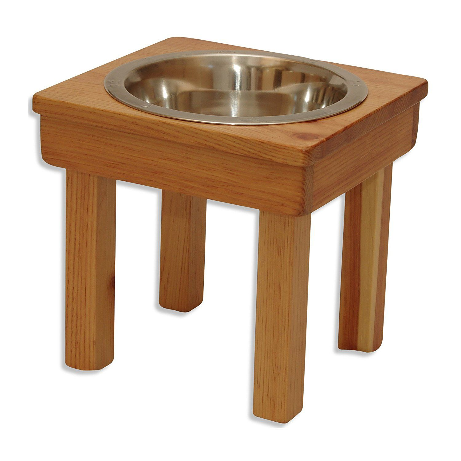 OFTO Raised Dog Bowls Solid Wood Cat dish and Dog Bowl Stands with