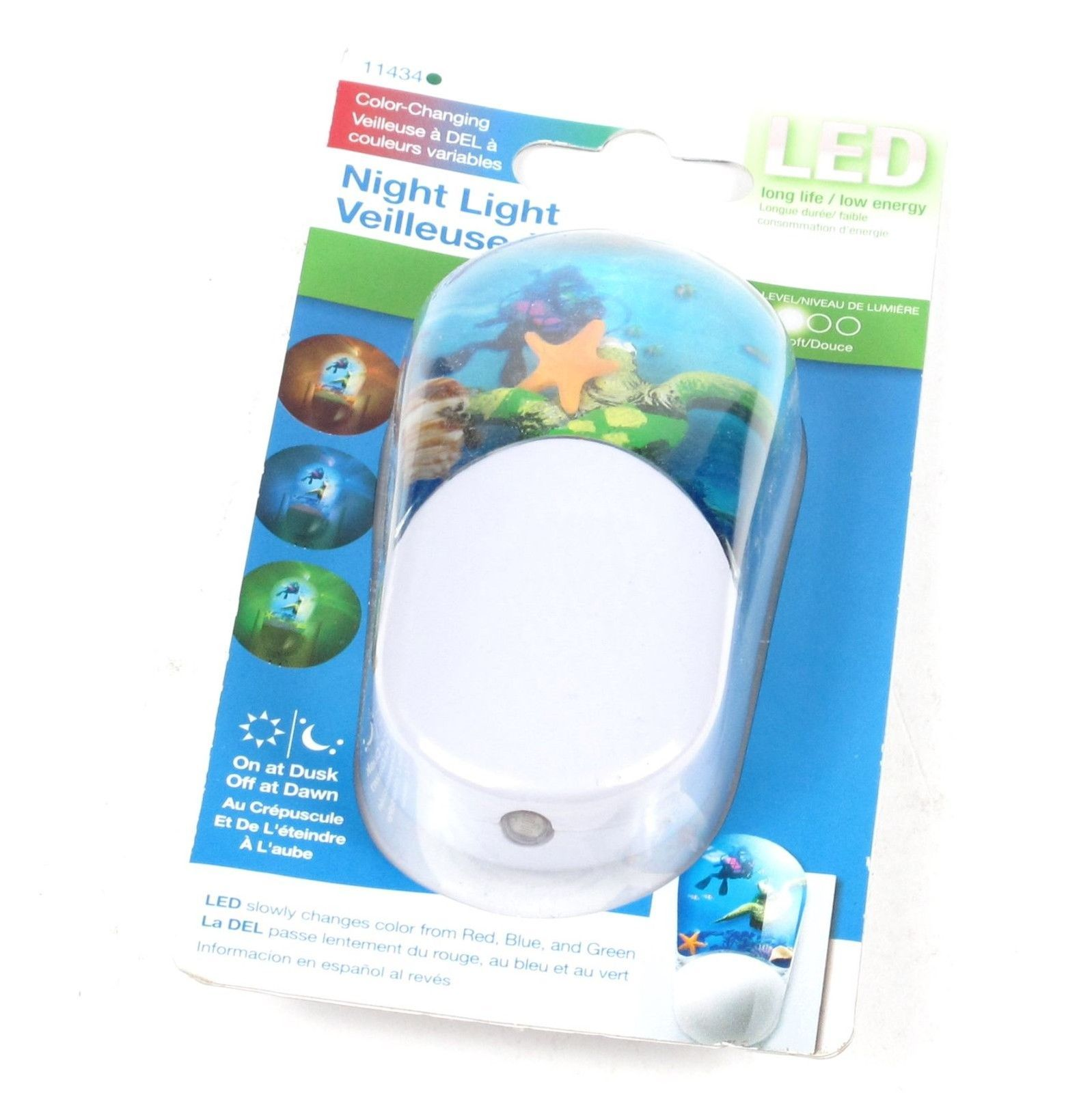 GE Color Changing Deep Sea Automatic LED Night Light 11434 | eBay ...