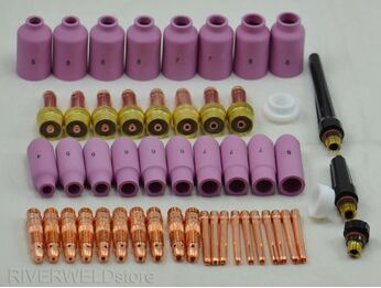 TIG Welding Torch Gas Lens Collet Accessories Kit 51Pcs for WP-17//18//26 Series