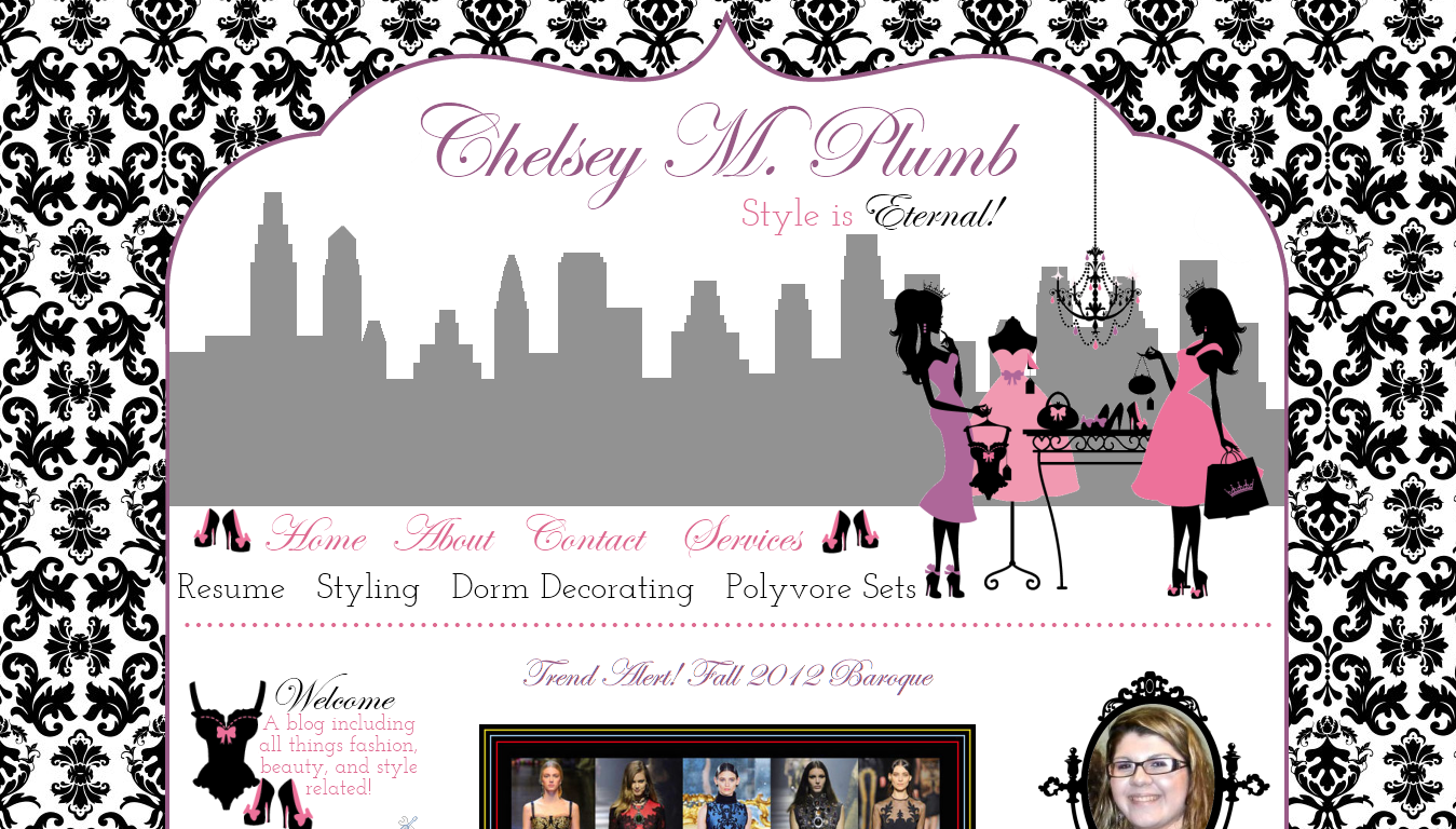 Blogger Custom Blog Design -Chelsey M Plumb - Modern - Illustrated style