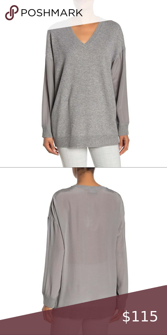 Magaschoni Women/'s Cashmere V-Neck Sweater