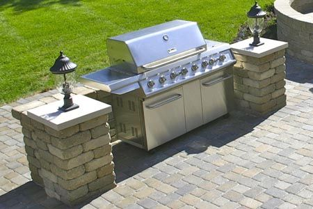 slide in grill stations | Hardscape Accessories for Your Patio ...