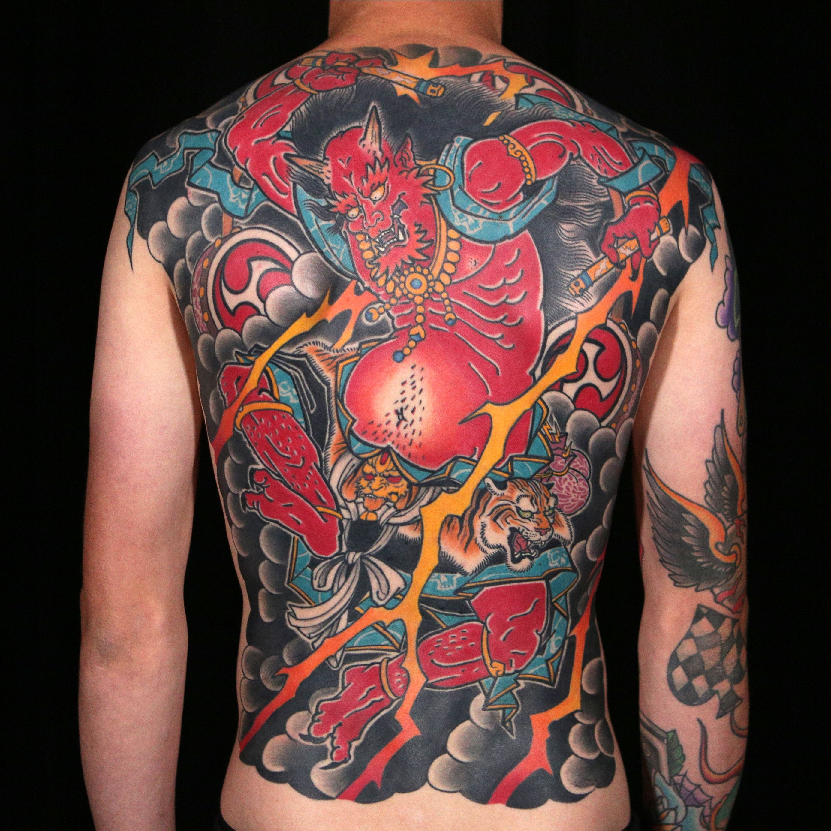Japanese Demon Tattoo by Laura Marie Japanese tattoo