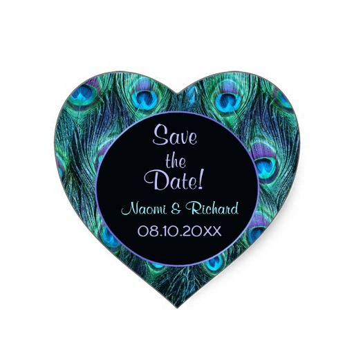 Peacock Feather Drama - Wedding Seal - Customize Sticker