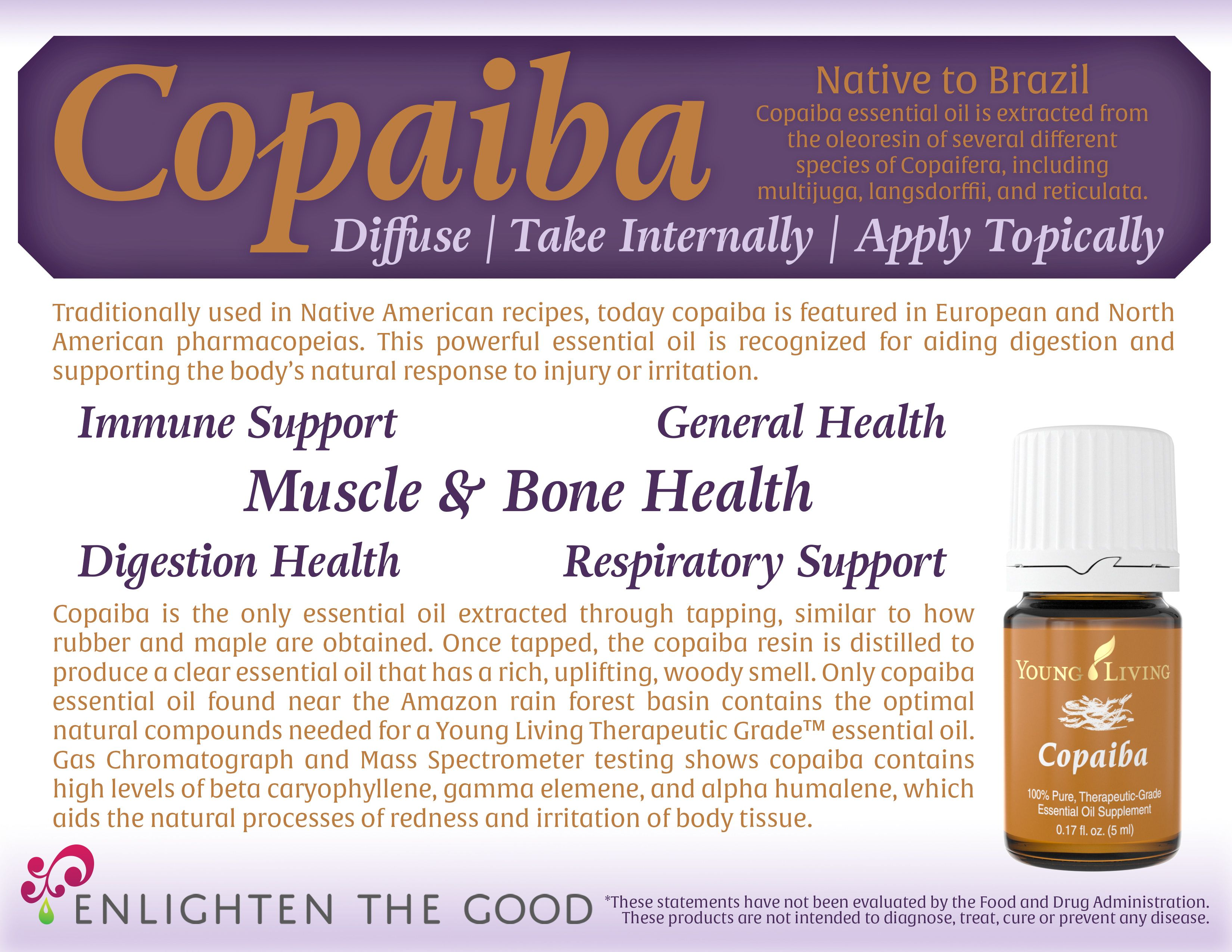 Copaiba is a very gentle and versatile essential oil!