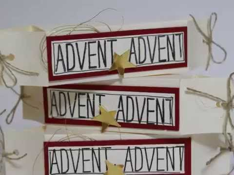 Mini Schachtel -  Advent Advent - Stampin' UP!