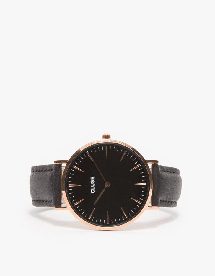 Pin for Later: Gifts So Stylish You Won't Believe They're $100 or Less  La Bohème Rose Gold/Black Watch ($99)