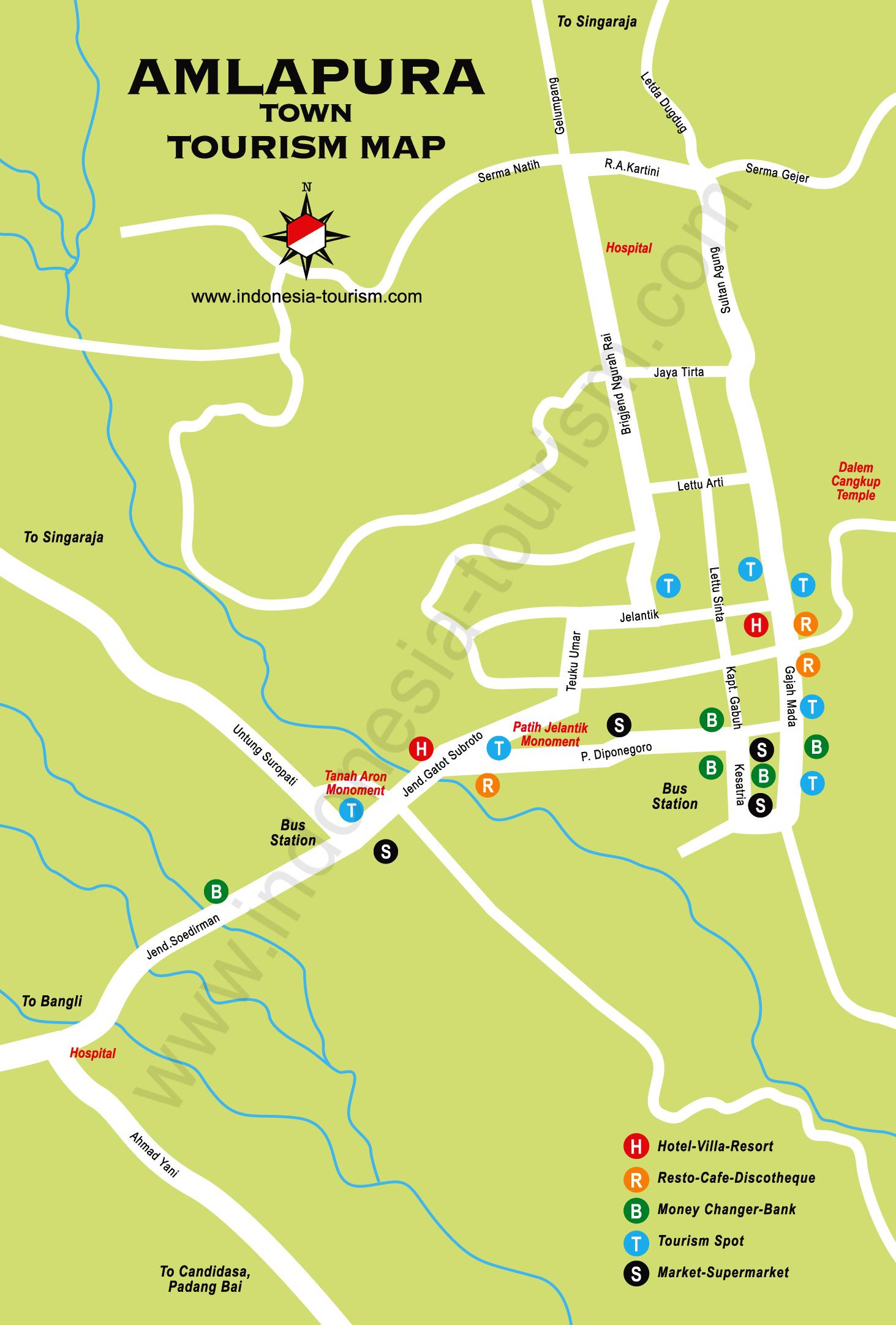 Amlapura bali map maps pinterest indonesia and buckets amlapura bali map thecheapjerseys Images