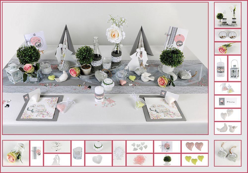 tischdeko hochzeit 9 in grau rosa als mustertisch tischdeko hochzeit. Black Bedroom Furniture Sets. Home Design Ideas