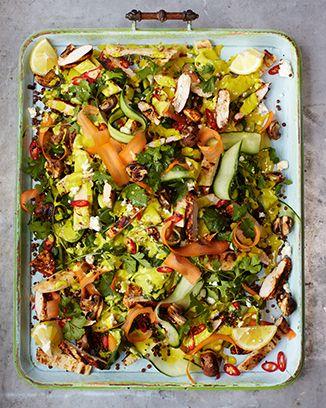 Chicken Tikka And Lentil Salad Jamie S 15min Meals Indian Salads Lentil Salad Recipes Jamie S 15 Minute Meals