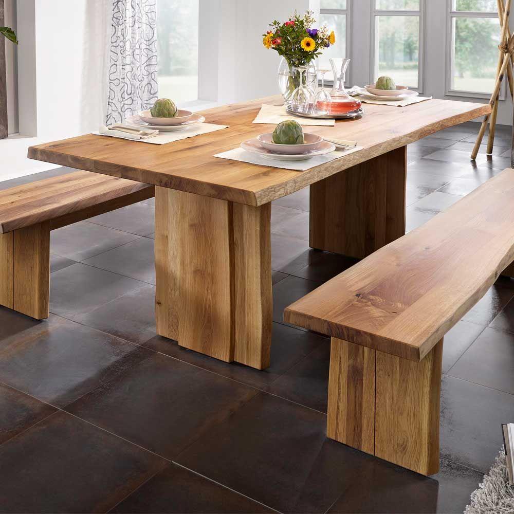 Designer Esstische baumkanten esstisch aus massivholz geölt holztisch massivholztisch