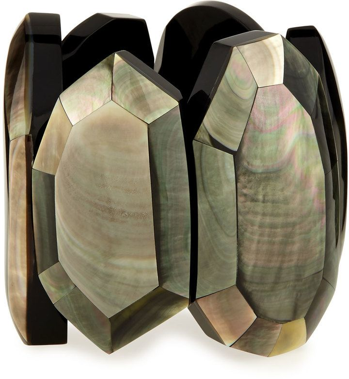 Viktoria Hayman Faceted Mother-of-Pearl Stretch Bracelet on shopstyle.com