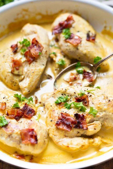 Cremiges Honig-Senf-Hähnchen mit Bacon - Kochkarussell -