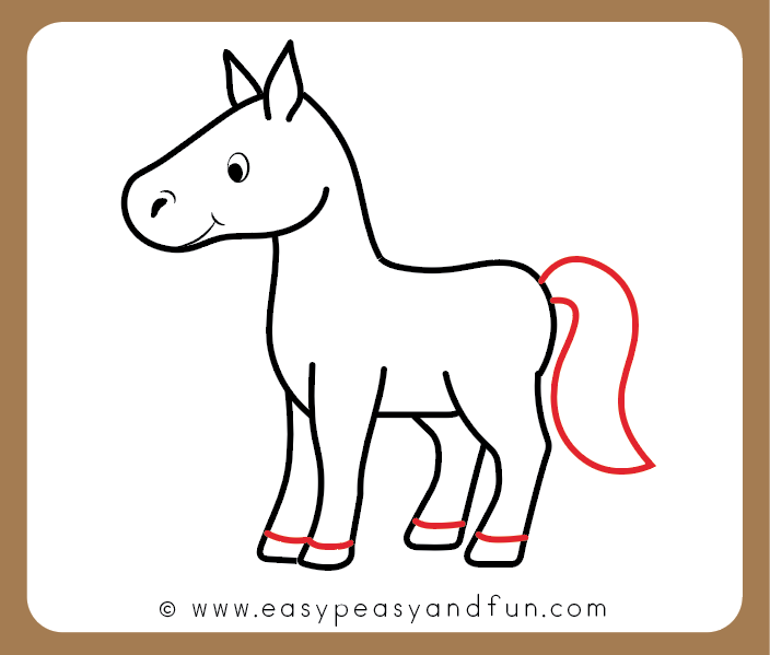 How To Draw A Horse Step By Step Tutorial For Kids Cartooning Easy Peasy And Fun Easy Horse Drawing Horse Drawings Cute Easy Drawings