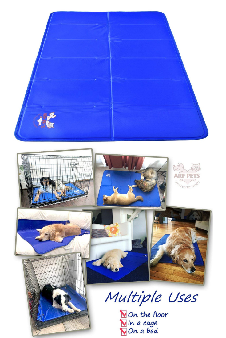 You Me Striped Orthopedic Memory Foam Dog Mat 30 L X 19 W Medium Dog Mat Dog Kennel Dog Playpen