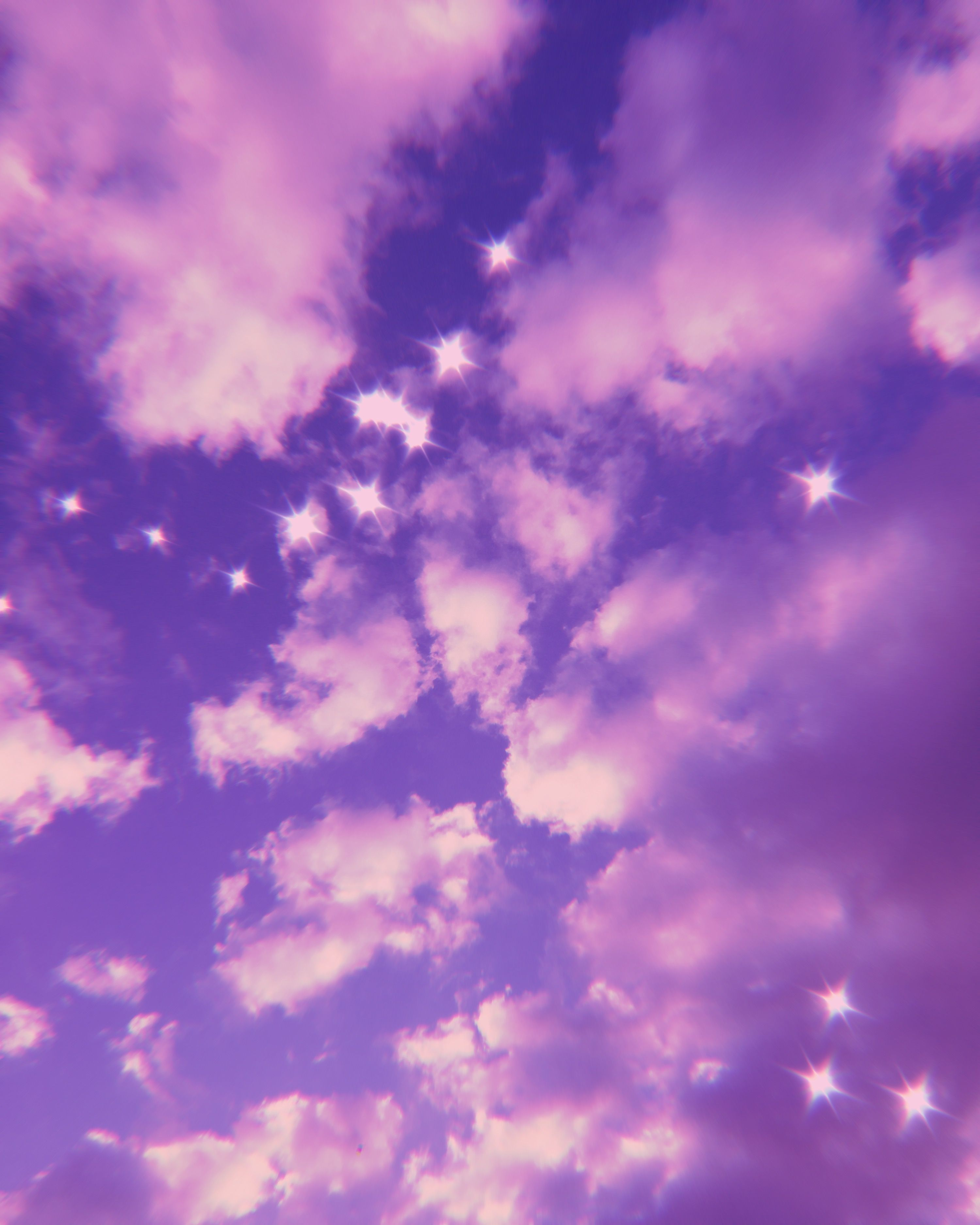 Intense colors, sharp lines, glossy finish. Pink bling sky ☆ in 2020 | Purple aesthetic, Aesthetic ...