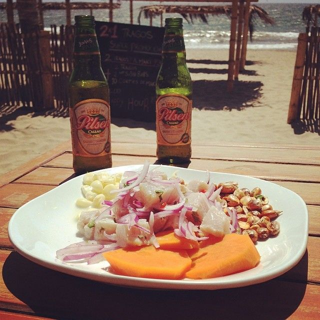 Ceviche Y Su Respectiva Chela Cobb Salad Food Salad
