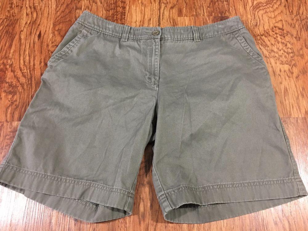 "COLUMBIA Beige//Khaki Lightweight Stretch Bermuda Hiking Shorts Size 14 x 12/"""