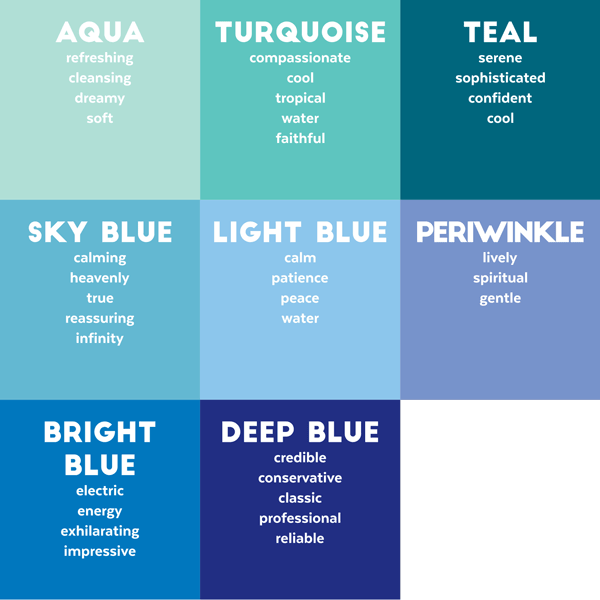 Is Blue A Calming Color ct-blues | colour theory | pinterest