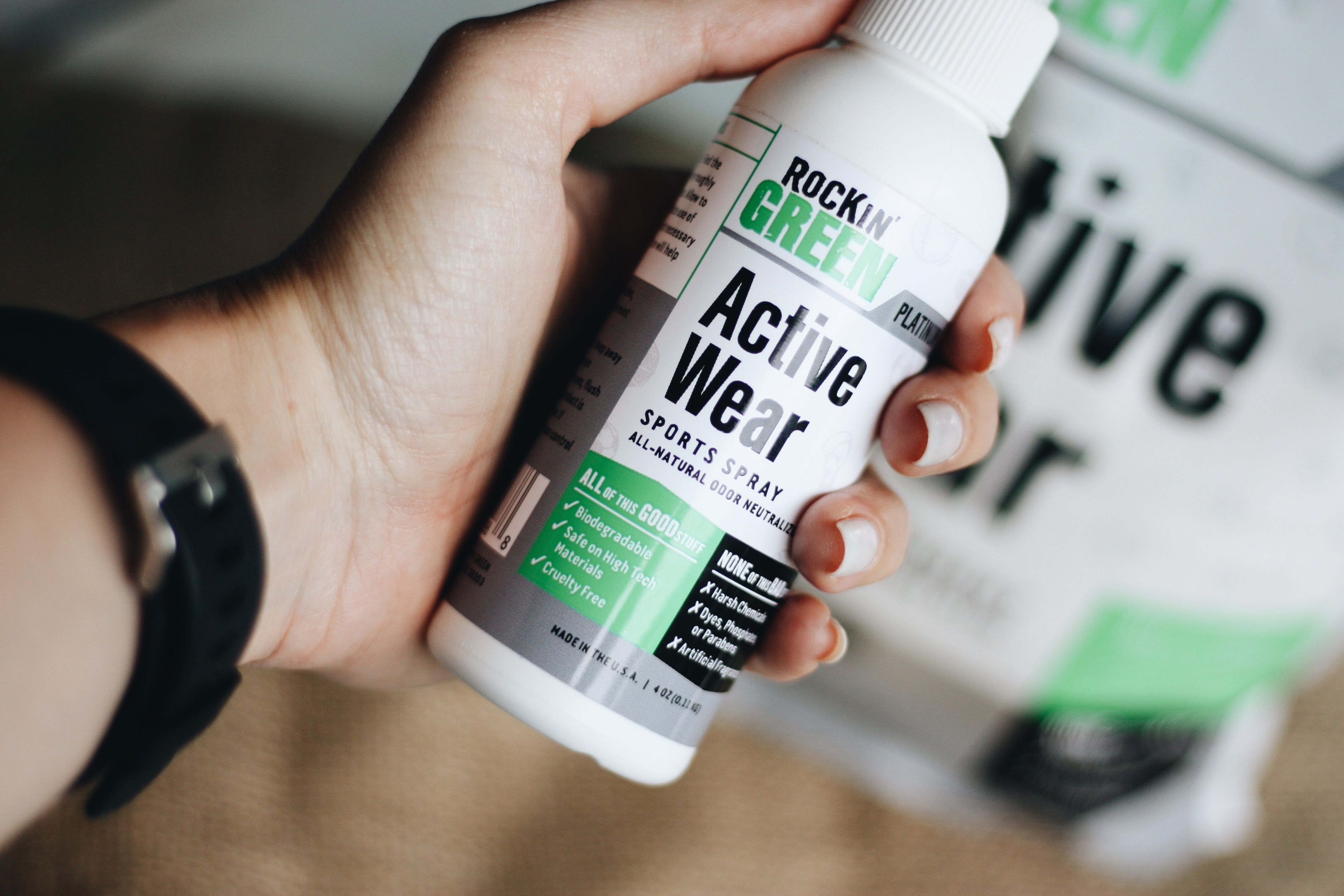 Rockin Green Active Wear Sports Spray 3 Pack How to