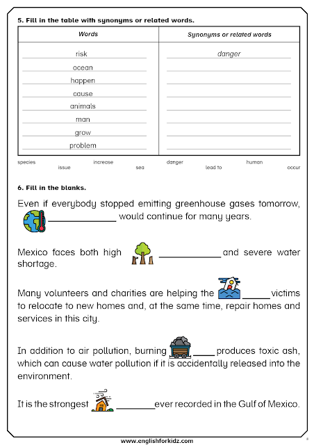 Global Warming Reading Comprehension Worksheets Flashcards In 2020 Reading Comprehension Reading Comprehension Worksheets How To Memorize Things
